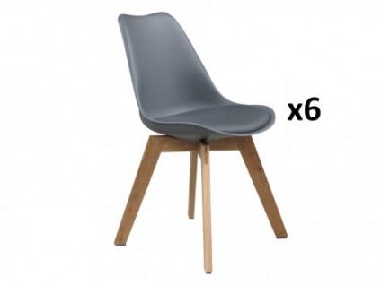 Stuhl 6er-Set Paddy - Grau