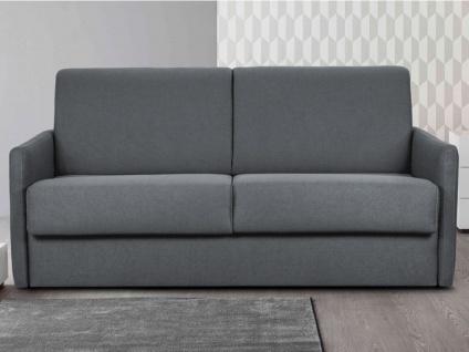 Schlafsofa 3-Sitzer CALIFE II - Stoff - Grau - Liegefläche: 140 cm - Matratzenhöhe: 14 cm