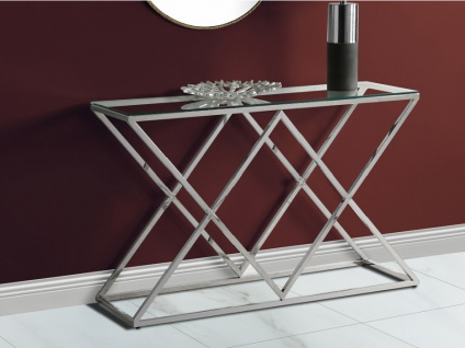 Wandkonsole CHARLOTTE - Glas & Stahl - Chromfarben
