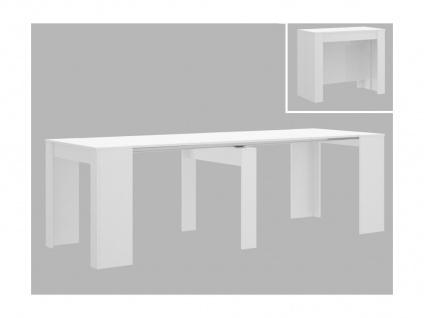 Konsolentisch ONEGA - 10 Personen - 4 Verlängerungen - Weiß