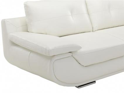 Ledersofa 3-Sitzer Orgullosa- Luxusleder - Weiß - Vorschau 4