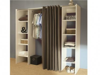 Kleiderschrank Kleiderschranksystem Emeric - Weiß & Anthrazit - Vorschau 5