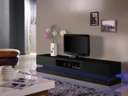 TV-Möbel Hochglanz LED Firmament - Schwarz