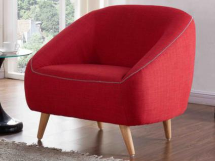 Sessel Stoff TINKA - Rot und Grau