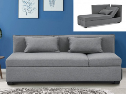 3-Sitzer-Sofa Stoff MOSINA - Grau