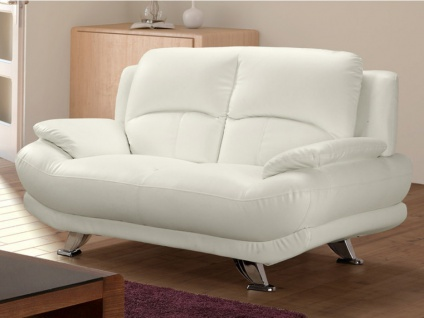 Sofa 2-Sitzer MUSKO - Elfenbeinfarben - Vorschau 1