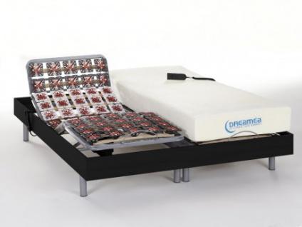 Matratzen elektrischer Lattenrost 2er-Set mit Okin-Motor Hesiode III - Schwarz - 2x80x200