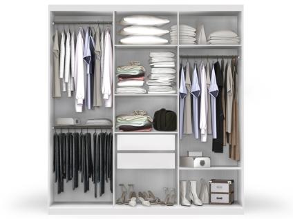 Kleiderschrank Wilhem - 6 Türen - Weiß - Vorschau 3