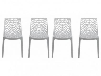 Stuhl 4er Set Diadem Kunststoff Weiss
