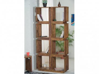 Regal Raumteiler Holz massiv KETANA - 8 Fächer