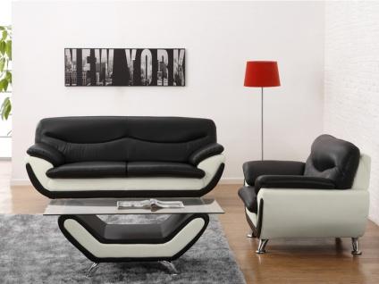 2-Sitzer-Sofa Indiz - Schwarz & Weiß - Vorschau 3