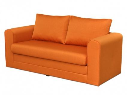 Schlafsofa Stoff Donau II - Orange - Vorschau 2