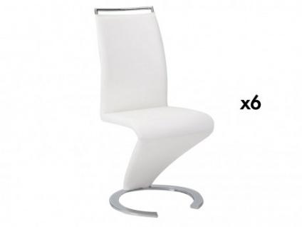 Stuhl Freischwinger 6er-Set Twizy - Weiß