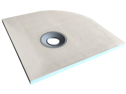 Duschwanne Duschtasse zur Selbstgestaltung mit Siphon DELOS - Abgerundet - 900x900x40mm