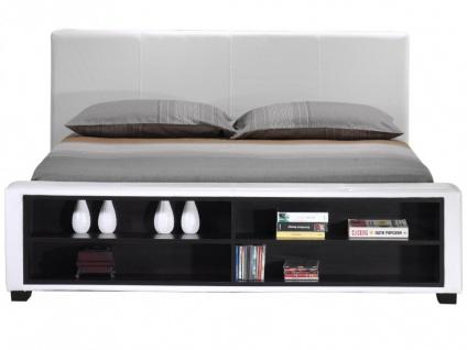 Polsterbett mit Stauraum Avalon - 160x200cm - Weiß - Vorschau 5
