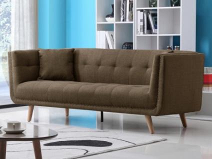 3-Sitzer-Sofa Stoff KARL - Braun