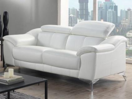 Ledersofa 2-Sitzer DALOA - Weiß