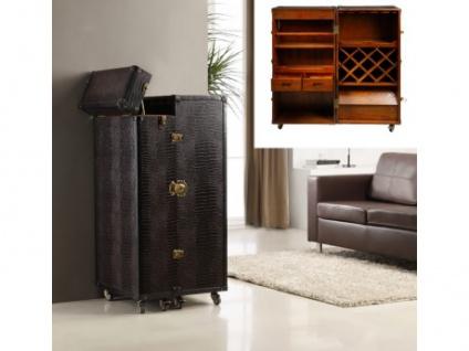 Koffer-Bar Holz Kolonial Loric - Braun