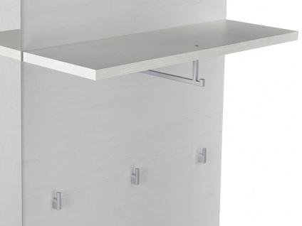 Garderobe CALEB - 1 Tür & 1 Ablage - Kiefernholzfarben - Vorschau 5