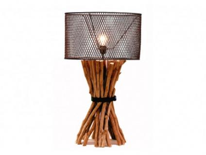 Lampe Holz & Metall BROCANTE - Höhe: 81 cm