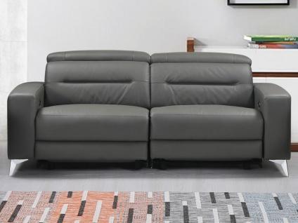 Relaxsofa elektrisch 3-Sitzer PAULY - Leder - Anthrazit