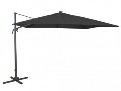 Sonnenschirm Stahl POTOSI - Mit LED-Beleuchtung - Anthrazit