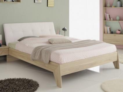 Bett mit Kopfteil REGIS - 140x190cm - Weiß
