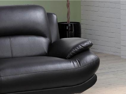 Sofa 3-Sitzer MUSKO - Schwarz - Vorschau 2