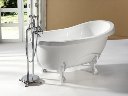 Freistehende Badewanne EGEE II - 171 L - Weiß mit weißen Füßen