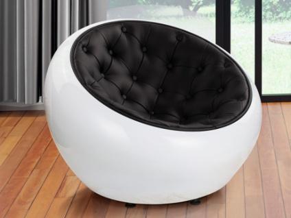 Lounge-Sessel Haven - Weiß&Schwarz