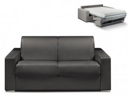 Schlafsofa 2-Sitzer CALITO - Schwarz - Liegefläche: 120 cm - Matratzenhöhe: 22cm