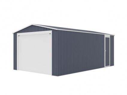 Garage mit Rolltor OCTOU - Stahl - Grau - 19, 5 m² - Vorschau 5