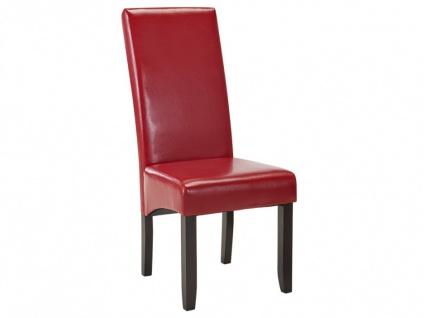 Stuhl 6er-set Rovigo - Rot - Vorschau 5