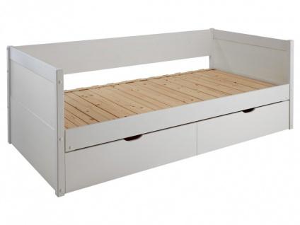 Ausziehbett mit Bettkasten ALFIERO + Lattenrost - 90x190cm - Vorschau 4