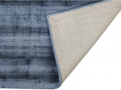 Teppich LOUVAIN - 100% Viskose - 160x230 cm - Dunkelblau - Vorschau 2