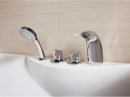 Whirlpool Badewanne GAVINO - 1 Person - 140 Liter - Ecke Links - Vorschau 4
