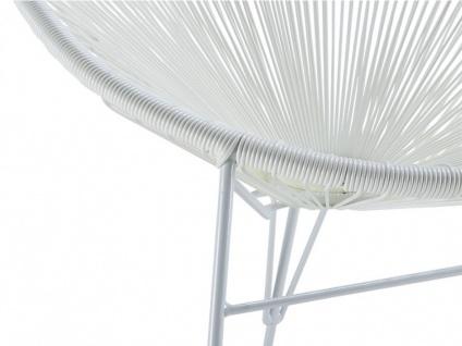 Gartenstuhl 2er-Set Polyrattan ALIOS II - Weiß - Vorschau 3