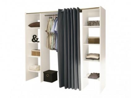 Kleiderschrank Kleiderschranksystem Emeric - Weiß & Anthrazit - Vorschau 1