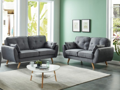 Couchgarnitur Stoff 3+2 MELINA
