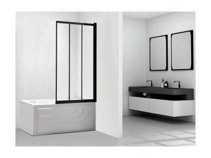 Duschabtrennung für die Badewanne DOLANE - 80x140cm - Schwarz