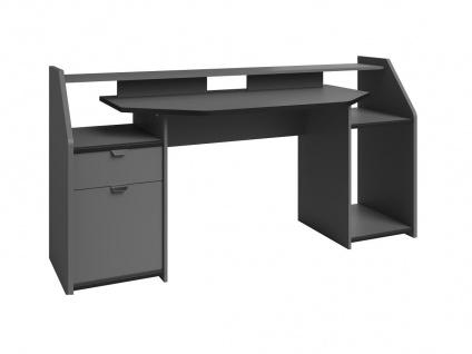 Gaming-Schreibtisch MOBA mit Stauraum & LED-Beleuchtung