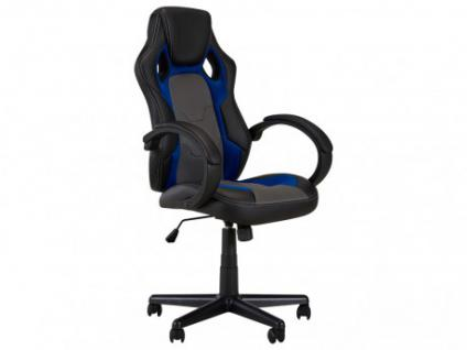Bürostuhl Driver II - Höhenverstellbar - Schwarz&Blau