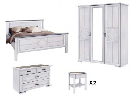 Sparset MAELIS: 5 Schlafzimmerprodukte - Bett in 160x200 cm