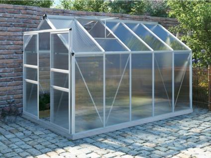 Garten Gewächshaus Aluminium Corolle - 9 m² - Metallic