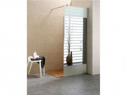 Duschtrennwand Seitenwand Spiegel für bodengleiche italienische Dusche Carla - 90x200 cm - Vorschau 4