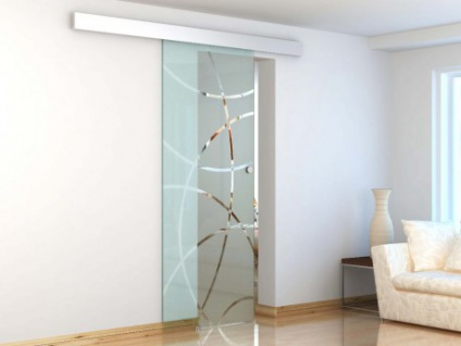 Glasschiebetür Alusystem HEIDI - H 205 x B 83 cm