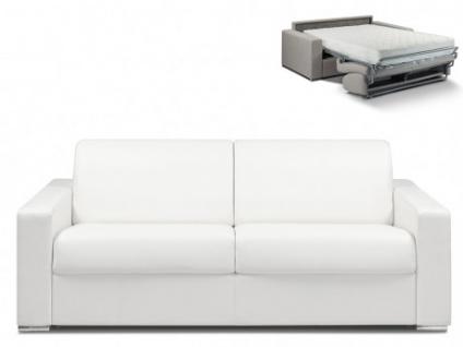 Schlafsofa 4-Sitzer CALITO - Weiß - Liegefläche: 160 cm - Matratzenhöhe: 22cm
