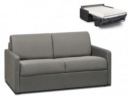 Schlafsofa 2-Sitzer Stoff CALIFE - Hellgrau - Liegefläche: 120 cm - Matratzenhöhe: 18cm