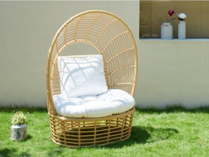 Gartensessel mit Sonnenschutz Polyrattan CALODYNE