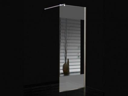 Duschtrennwand Seitenwand Spiegel für bodengleiche italienische Dusche Carla - 90x200 cm